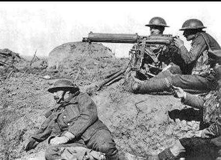 machine gun firing